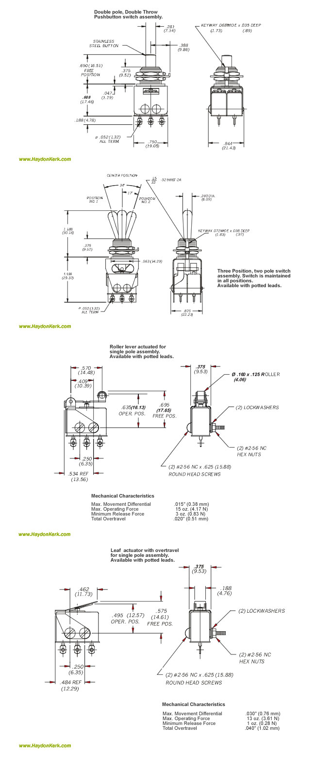 Haydon Environmentally Sealed Switch 6100 Series