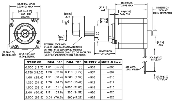 Size 23 Double Stack Hybrid Stepper Linear Actuator | 57000 series Haydon Stepper Motor Wiring Diagram on