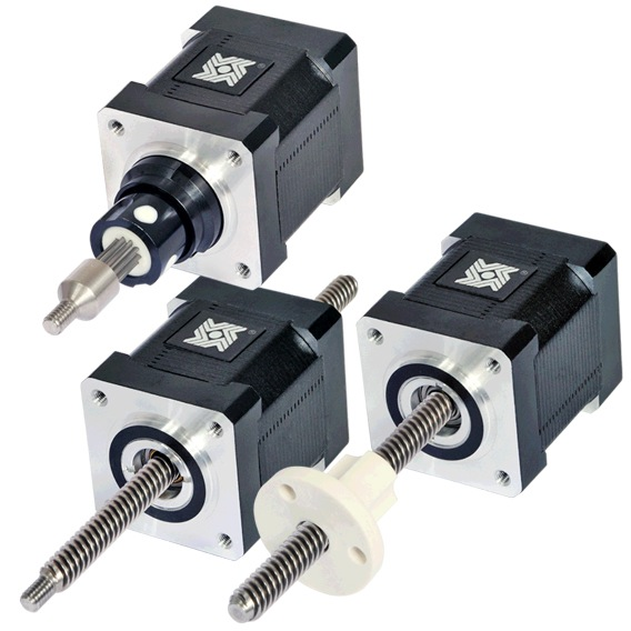 Size 14 Double Stack Stepper Motor Linear Actuator