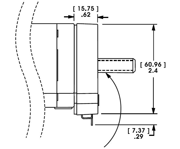 Size 23 Linear Actuator Encoder