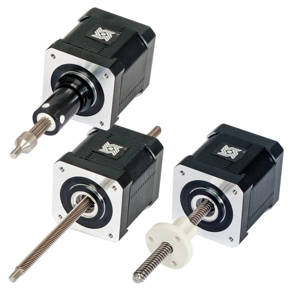 Size 17 Double Stack Stepper Motor Linear Actuator