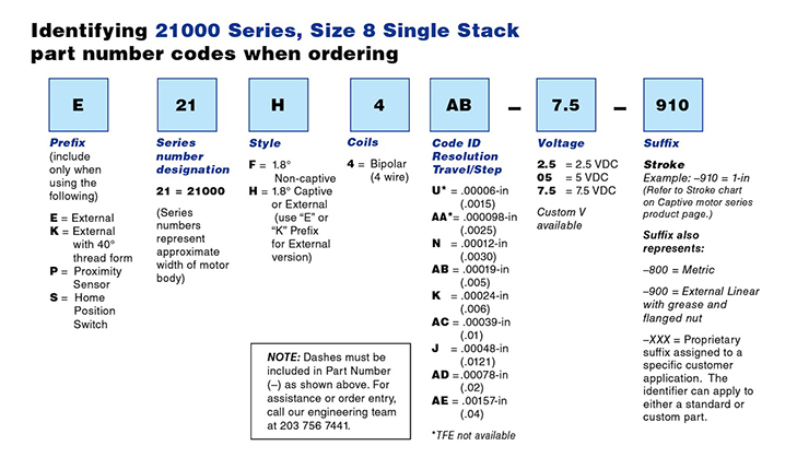 size 08 hybrid stepper linear actuators   21000 series ... eagle andco linear actuator wiring diagram