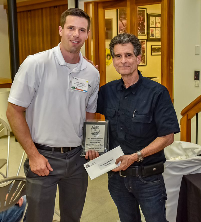 HK 20 Year Supplier Recognition FIRST Robotics with Dean Kamen